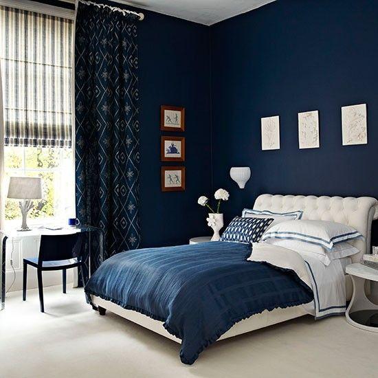اللون الأزرق في غرف النوم