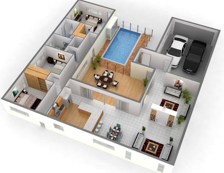 التقسيم الداخلي للشقة