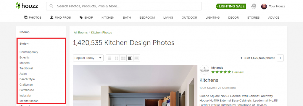 Houzz Categories Styles