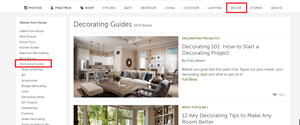 Houzz Decorating Guide
