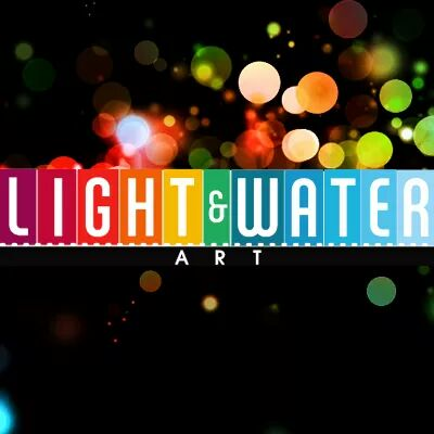 Light and water art