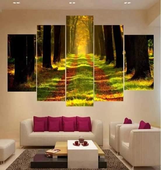 طرق عرض اللوحات والاعمال الفنية في المنزل