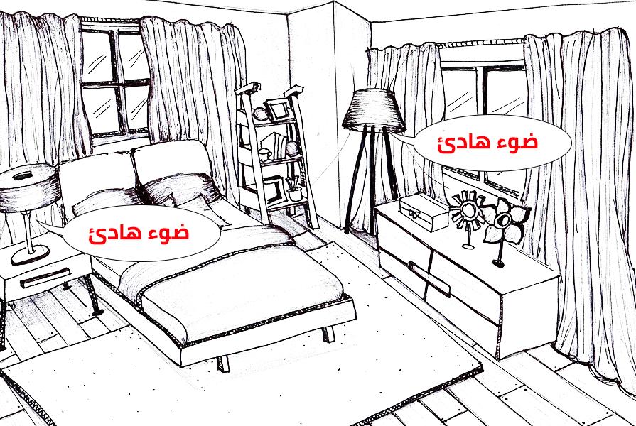 إضاءة غرف النوم 2018